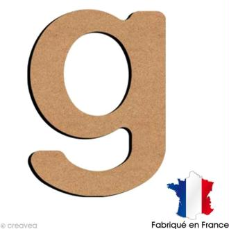 Lettre minuscule en bois G 5 cm