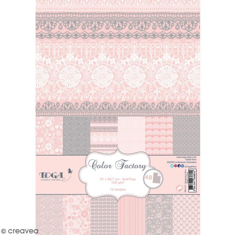 Papier scrapbooking toga color factory dentelles 48 for Papier parchemin cuisine