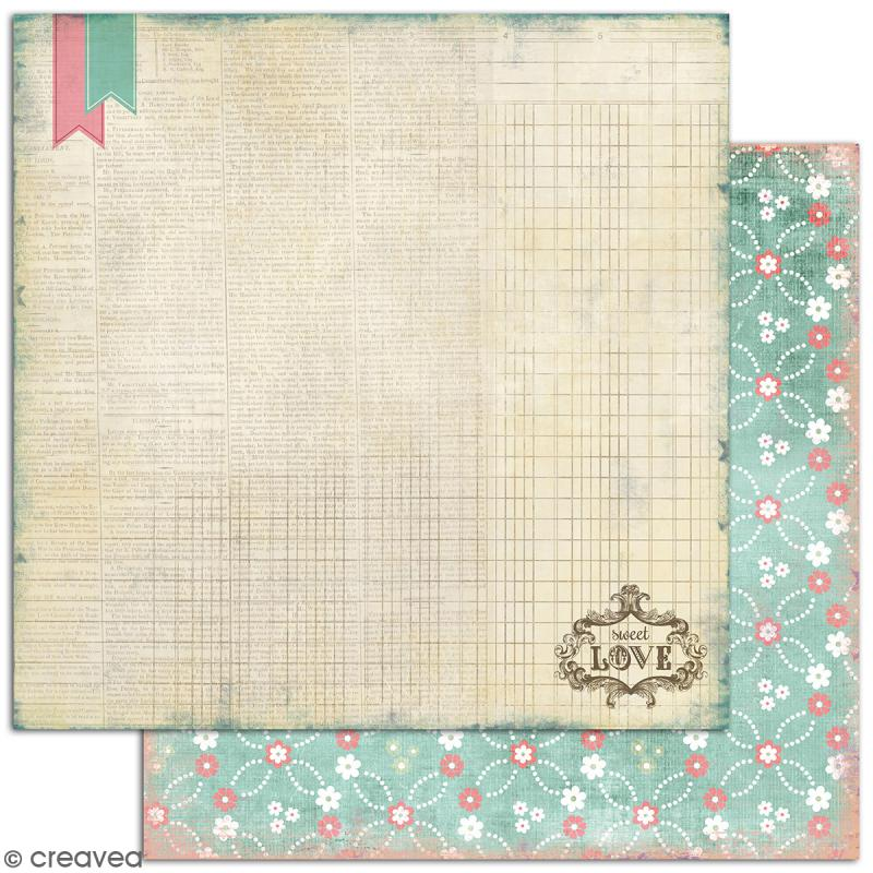 Papier scrapbooking A la folie - Set 6 feuilles 30,5 x 30,5 cm - Recto Verso - Photo n°4