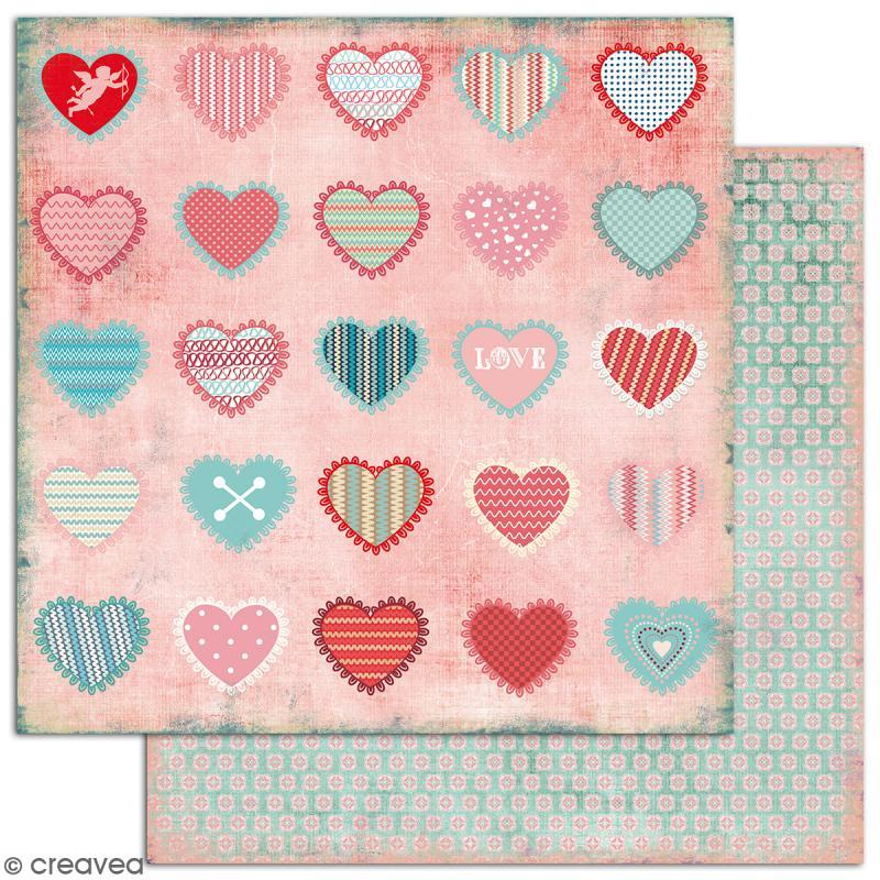 Papier scrapbooking A la folie - Set 6 feuilles 30,5 x 30,5 cm - Recto Verso - Photo n°6