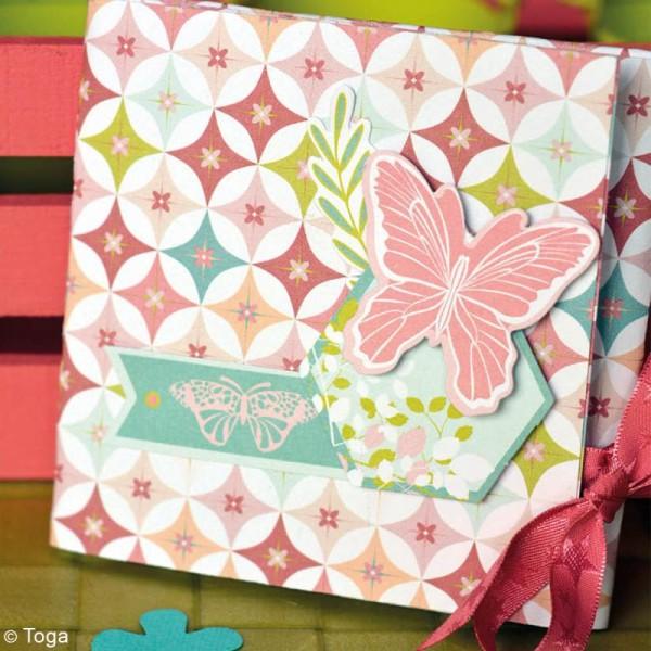 Papier scrapbooking Jardin secret - Set 6 feuilles 30,5 x 30,5 cm - Recto Verso - Photo n°3