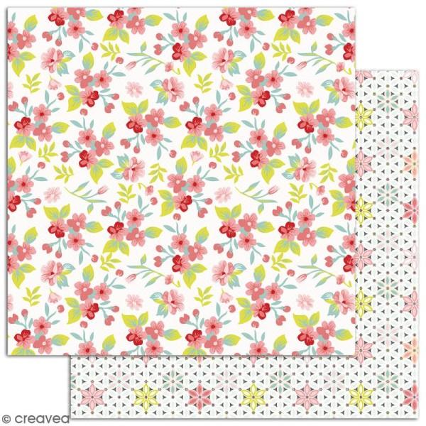 Papier scrapbooking Jardin secret - Set 6 feuilles 30,5 x 30,5 cm - Recto Verso - Photo n°5