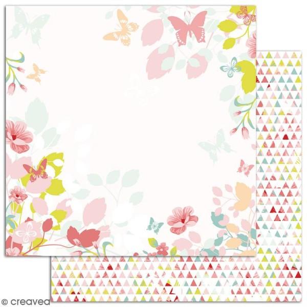 Papier scrapbooking Jardin secret - Set 6 feuilles 30,5 x 30,5 cm - Recto Verso - Photo n°6