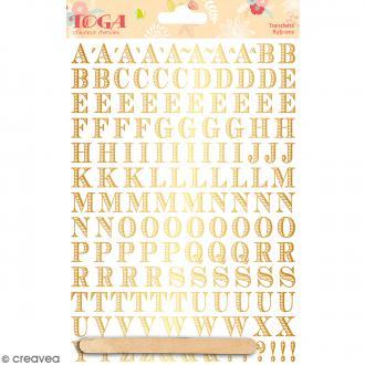 Rub-ons Transferts Alphabet doré Notting Hill - Planche de décalcomanies 15 x 20 cm