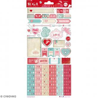 Stickers A la folie Toga - 2 planche de 15 x 30 cm - 315 pcs environ