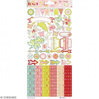 Stickers Jardin secret Toga - 2 planche de 15 x 30 cm - 300 pcs environ