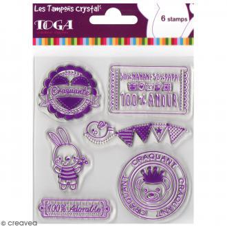 Tampon crystal Toga Bébé - 6 pcs
