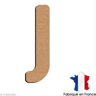 Lettre minuscule en bois J 5 cm