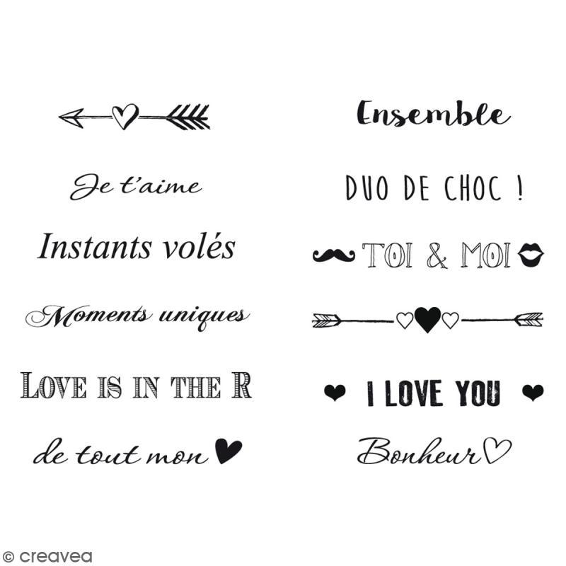 Tampon molette toga amour 12 messages et motifs for Amour de cuisine basboussa