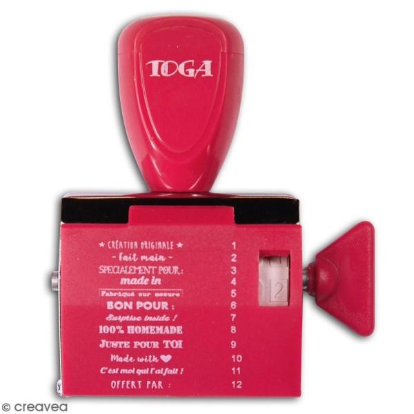 Tampon à molette Toga - Fait-Main - 12 messages et motifs - Photo n°3