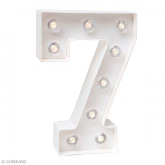 Chiffre lumineux à Led 7 - 20,3 x 13,2 x 5 cm