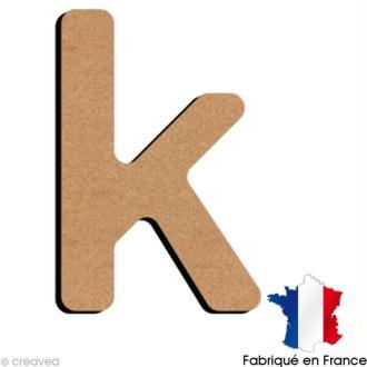 Lettre minuscule en bois K 5 cm