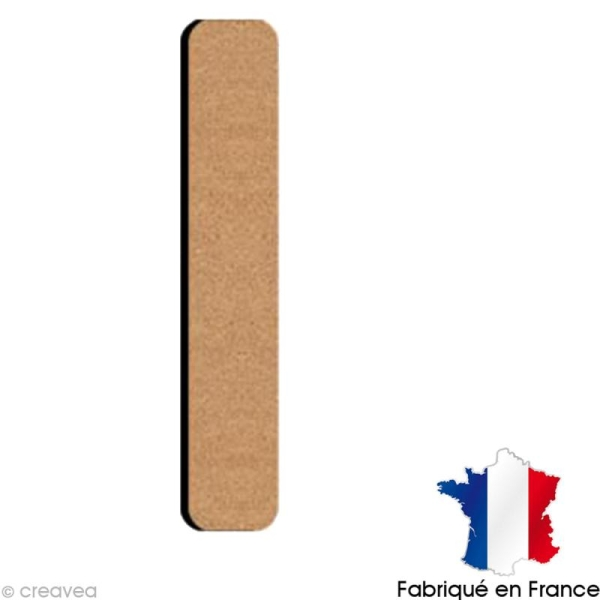 Lettre minuscule en bois L 5 cm - Photo n°1