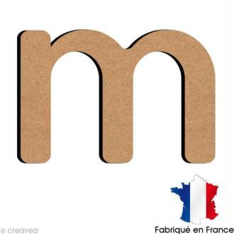Lettre minuscule en bois M 5 cm