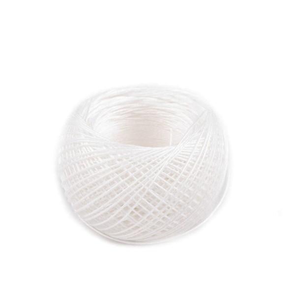 1pc Blanc Naturel 100% Fil de Lin 50m Pot en Plastique, d'Autres Fils, de Couture, de Mercerie - Photo n°2