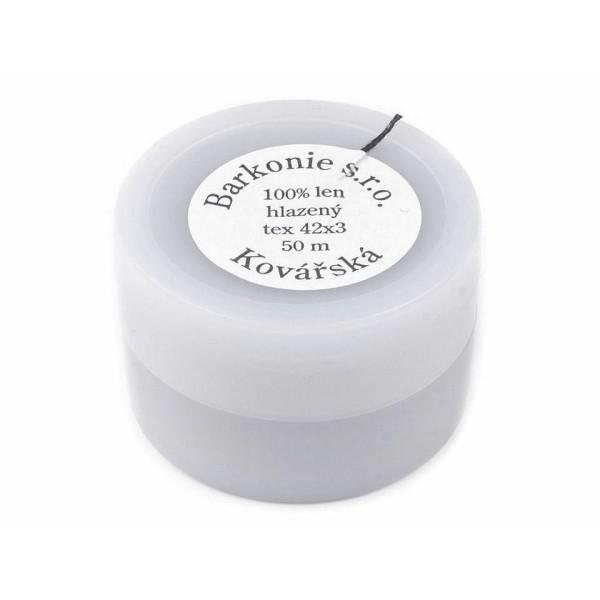 1pc Blanc Naturel 100% Fil de Lin 50m Pot en Plastique, d'Autres Fils, de Couture, de Mercerie - Photo n°3