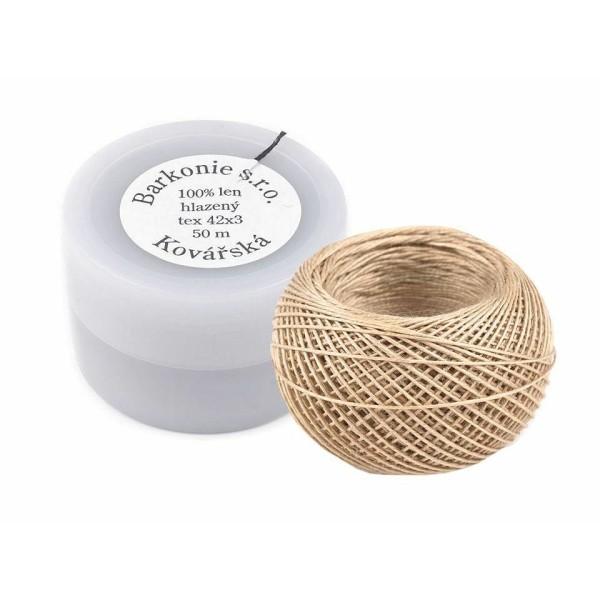 1pc Blanc Naturel 100% Fil de Lin 50m Pot en Plastique, d'Autres Fils, de Couture, de Mercerie - Photo n°4