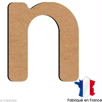 Lettre minuscule en bois N 5 cm