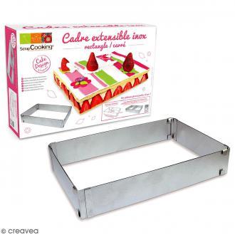 Cadre à pâtisserie - Carré/rectangulaire - Inox - Extensible