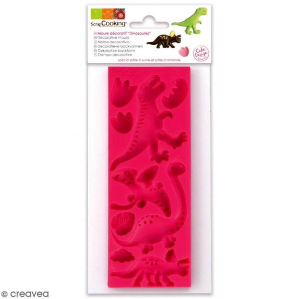 Moule en Silicone 3D - Dinosaures - 9 formes - Photo n°1