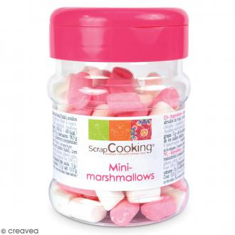 Mini marshmallows ScrapCooking - Rose et blanc - 40 g