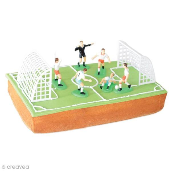 Accessoires déco pour gâteaux - Football - 9 formes - Photo n°2