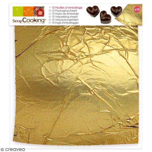 Feuilles d'emballage - Or - 12 x 16 cm - 10 pcs - Photo n°1