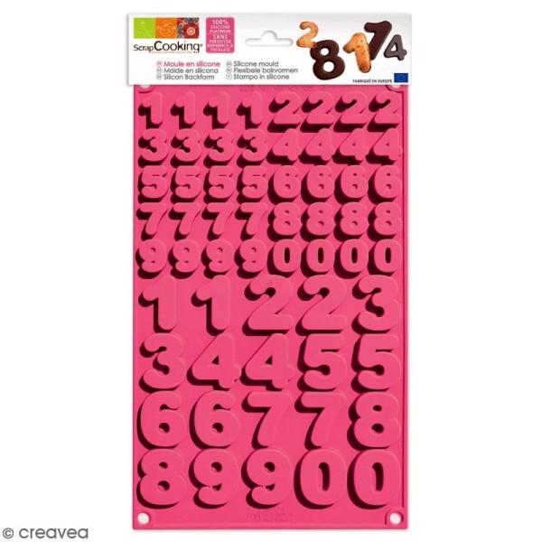 Moule en Silicone 3D - Chiffres - 60 pcs - Photo n°1