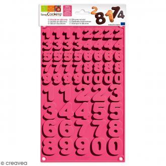Moule en Silicone 3D - Chiffres - 60 pcs