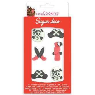 Décors sucre gâteaux - Pirates - 8 pcs