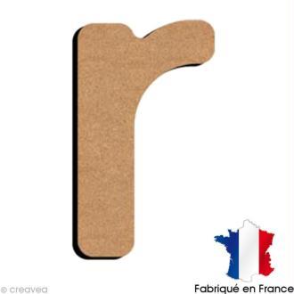 Lettre minuscule en bois R 5 cm