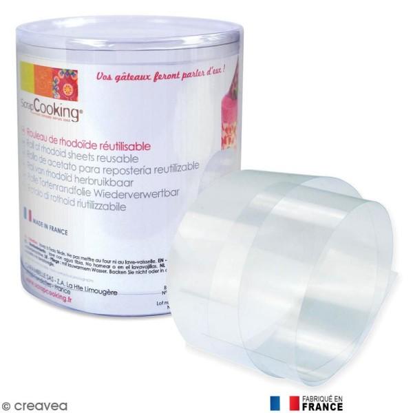 Ruban de rhodoïde pour patisserie - 8 cm x 3 m - Photo n°1