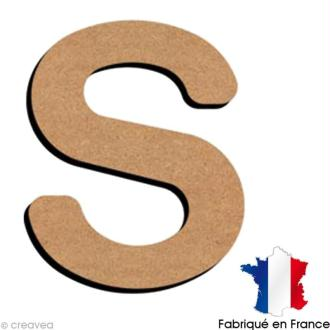 Lettre minuscule en bois S 5 cm