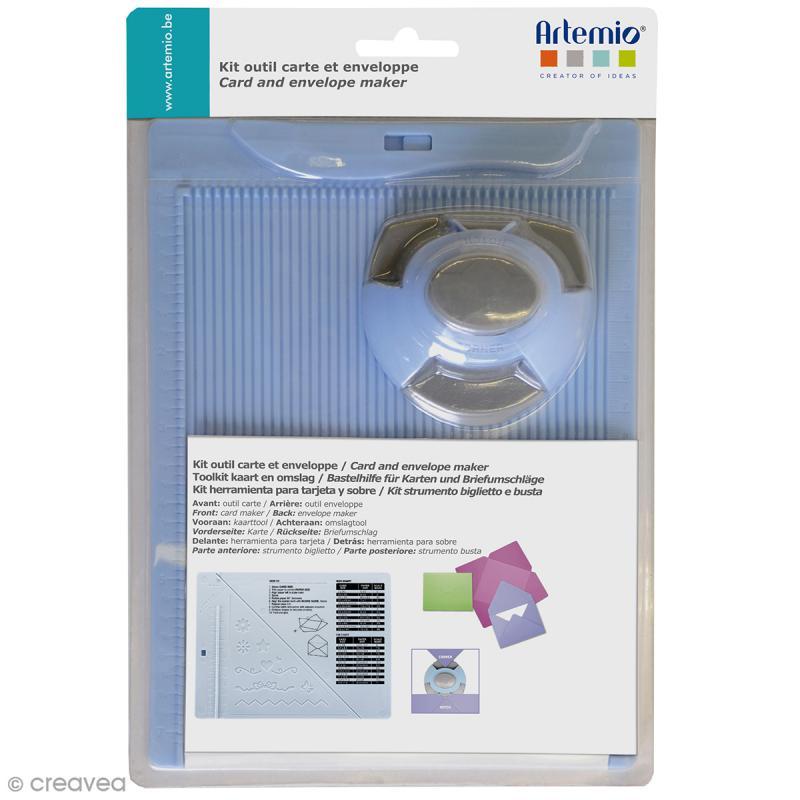 Kit de création enveloppe et carte avec perforatrice Artemio - 3 pcs - Photo n°1