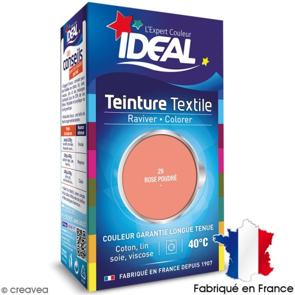 Teinture Tissu Idéal liquide rose poudré 29 mini - Photo n°1