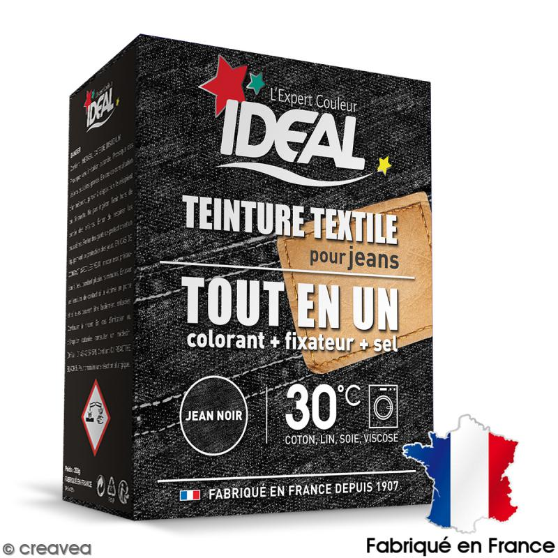 kit complet teinture ideal tout en un maxi jean noir 350 gr teinture coton creavea. Black Bedroom Furniture Sets. Home Design Ideas