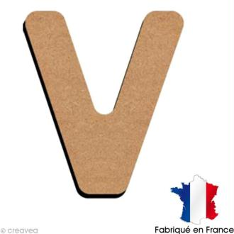 Lettre minuscule en bois V 5 cm