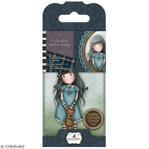 Mini tampon cling Gorjuss - N° 4 - Forget me not - Photo n°1