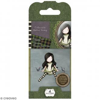 Mini tampon cling Gorjuss - N° 12 - Poppy Wood