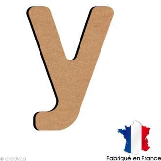 Lettre minuscule en bois Y 5 cm