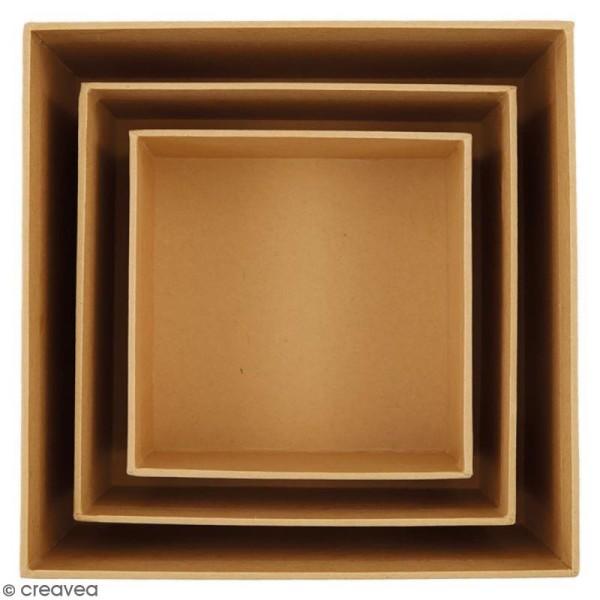 Boîtes gigognes en carton - Carrés 15 cm - 3 pcs - Photo n°2
