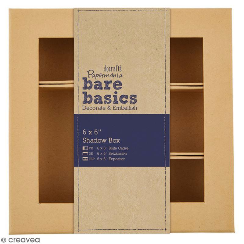 Shadow box à décorer - 15 x 15 cm - 7 cases - Photo n°1