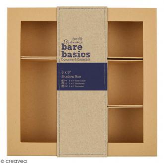 Shadow box à décorer - 20 x 20 cm - 7 cases