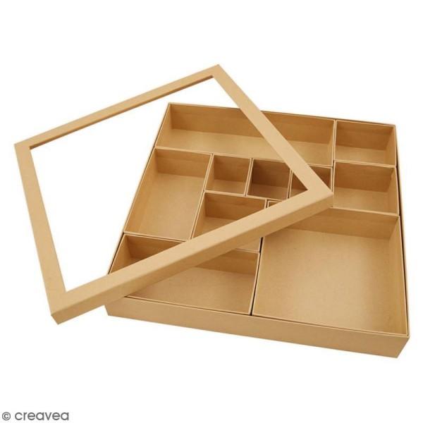 Shadow box à décorer - 30 x 30 cm - 10 cases - Photo n°3