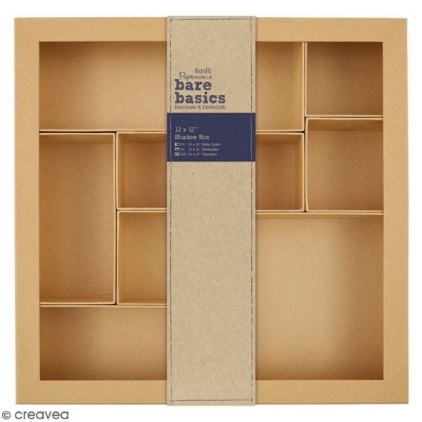 Shadow box à décorer - 30 x 30 cm - 10 cases - Photo n°1