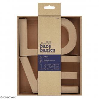 Lettres en carton - Love - 10 x 7 cm - 4 pcs