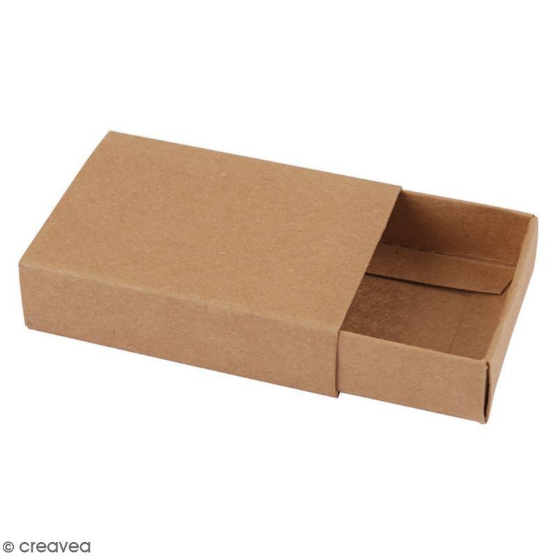 Boîtes format allumettes vide à décorer - 9,5 x 7 x 2,5 cm - 3 pcs - Photo n°2
