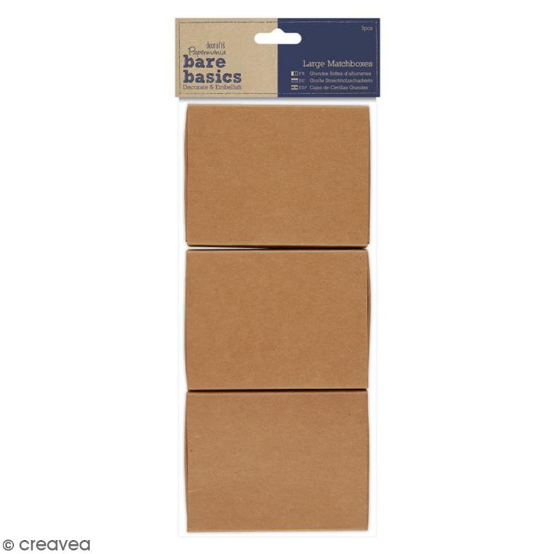 Boîtes format allumettes vide à décorer - 9,5 x 7 x 2,5 cm - 3 pcs - Photo n°1