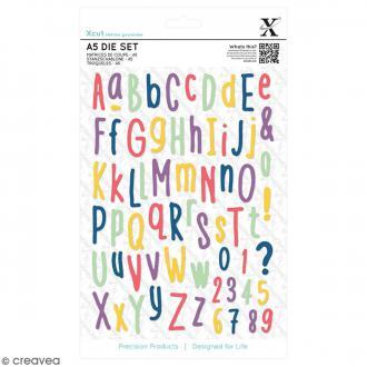 Dies X Cut - Alphabet et chiffres - 61 motifs