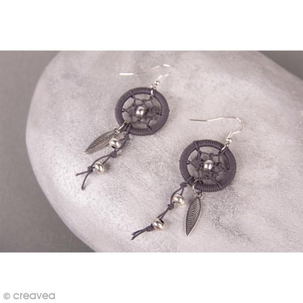 Cercles pour bijoux attrape-rêves - Argenté - 20 mm - 2 pcs - Photo n°3